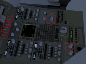 747-400 controls between pilots