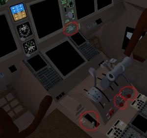 777-200 controls between pilots
